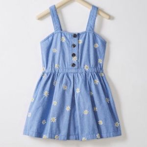 Hanna Andersson embroidered daisy jumper romper 8